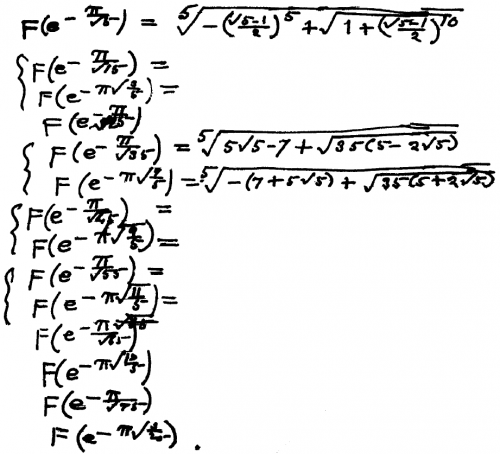 "Piece of Ramanujan's original ""lost"" notebook"