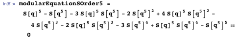 Using modular equations for actual proof