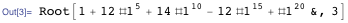 Closed algebraic form for the number