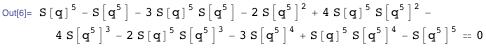 Modular equation of order 5 for S