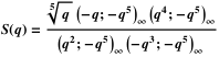 Definition of S using q-Pochhammer symbols
