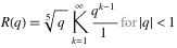 More formal definition of R(q)