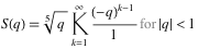 More formal definition of S(q)