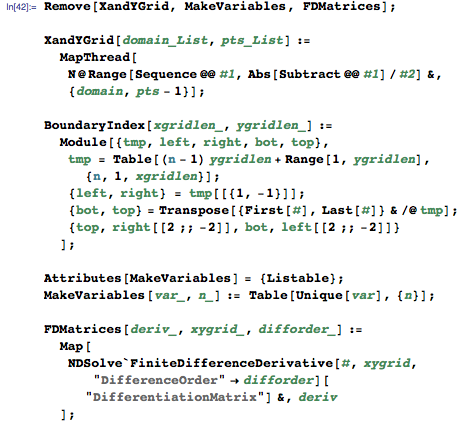 A number of helper/utility functions in order to put the code in a resuable form