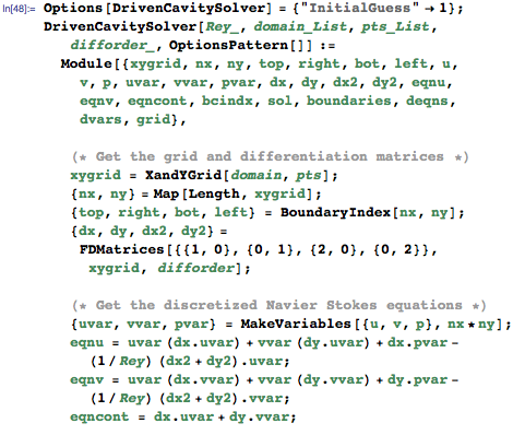 The main solver function