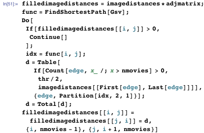 Code for scaling the visual and semantic distances