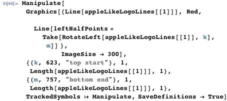 Manipulate appleLikeLogoLines