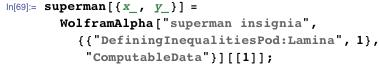 superman[{x_, y_}] = WolframAlpha