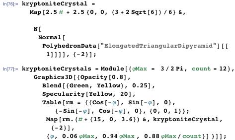 kryptoniteCrystal = Map