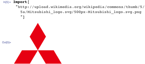 Mitsubishi logo-like lamina