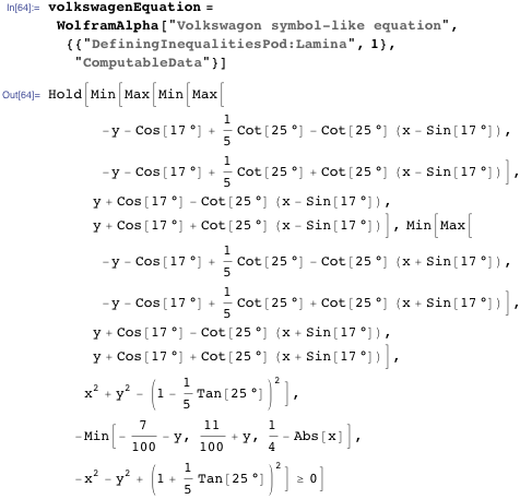 volkswagenEquation = WolframAlpha