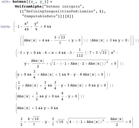 batman[{x_, y_}] = WolframAlpha