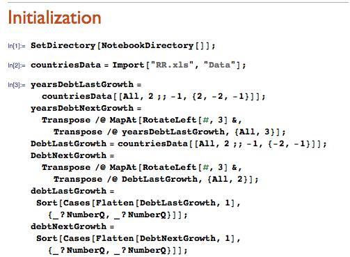 Initialization code