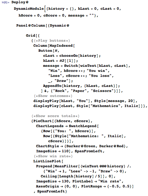 Demonstration code