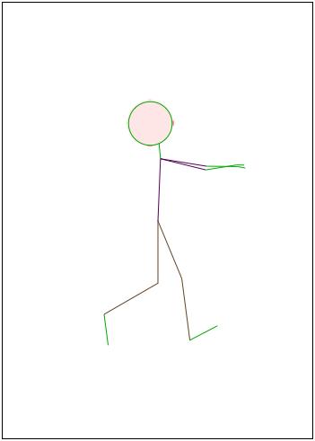 Zombie stick figure