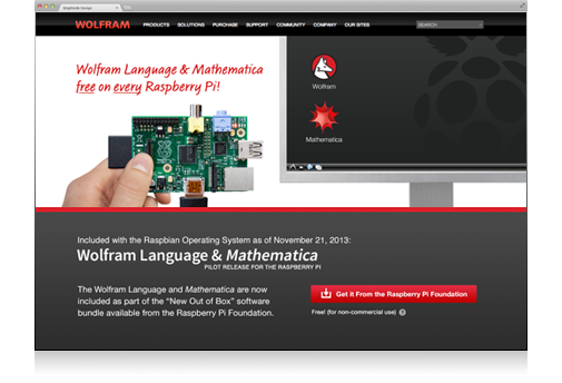 Wolfram Language and Mathematica now free on every Raspberry Pi