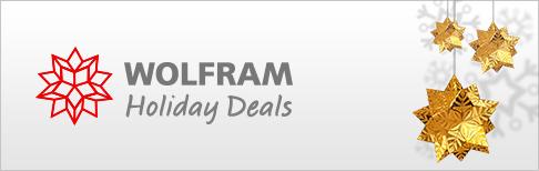 Wolfram Holiday Deals
