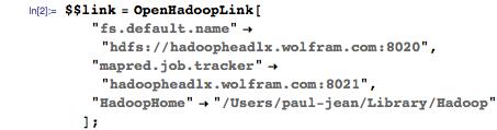 $$link = OpenHadoopLink