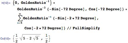 Determining coordinates for tip UR^2 U^Infinity