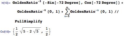 Determining coordinates for tip RLU^Infinity