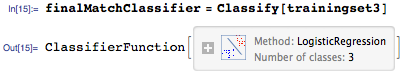 Train final classifier