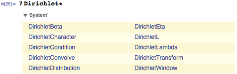 Dirichlet contributions shown on search
