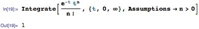 Using Gamma function