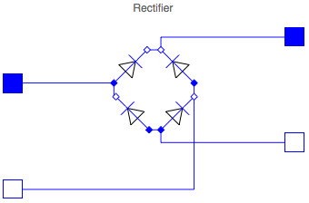 Rectifier with capacitor