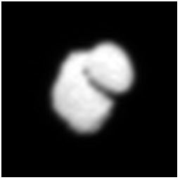 Far from spherical comet 67P