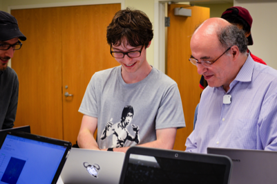 Stephen Wolfram with a student