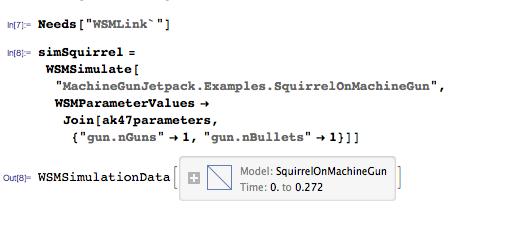 Simulate squirrel on machine gun