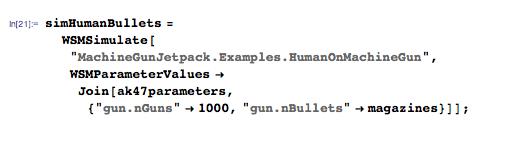 Larger number of guns