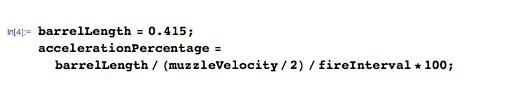 Estimate percentage of each firing interval