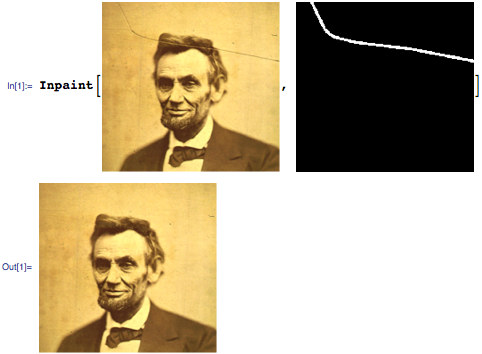 Using Inpaint on Abraham Lincoln image