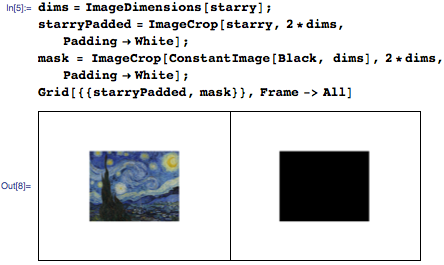 Extend image padding on Starry Night