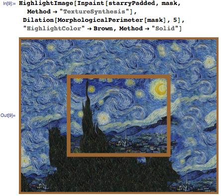 Extrapolation of Starry Night using TextureSynthesis