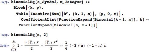 Binomial equation