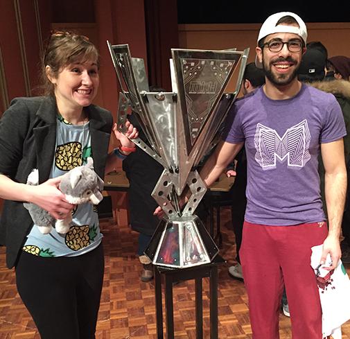MHacks V winners: Draw Anything team, Olivia Walch and Matt Jacobs