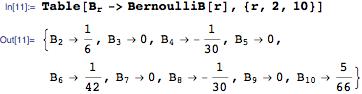 Bernoulli numbers