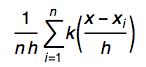 Formula for SmoothKernelDistribution