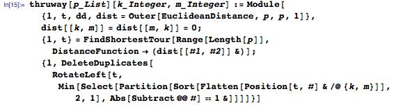 thruway[p_List][k_Integer, m_Integer] := ...