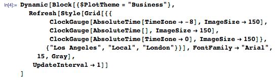 Using $PlotTheme to create time zone example