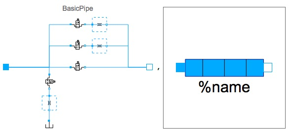 diagram for pipe in normal, restricted, leaking, and blocked operations