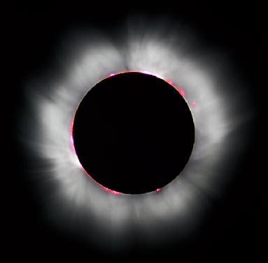 Amalthea total solar eclipse