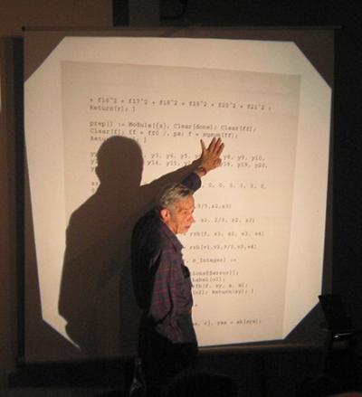 Nash presenting on Mathematica