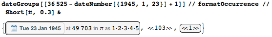 Where does the date 1-23-45 occur