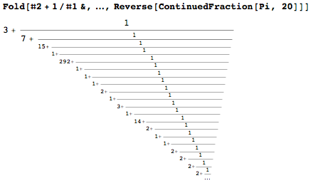 Concatenated continued fraction expansion