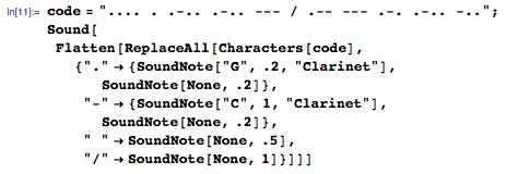 Applying sound to Hello World morse code