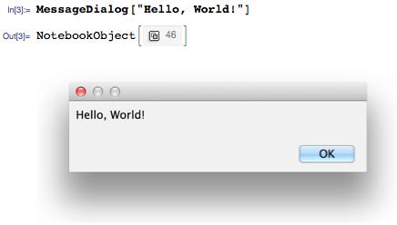 Hello, World! in its own window
