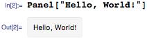 Hello, World! panel